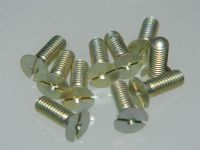 "10 x 10-32 UNF Slotted Screw Countersunk Head 9/16"" Long Part 2-SS4353 [O13]"